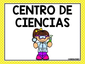 Editable Classroom Center Signs and Cards {SPANISH}