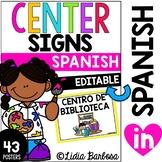 SPANISH Editable Center Signs