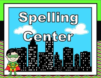 Editable Super Hero Themed Center Signs
