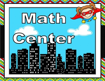 Editable Super Hero Themed Center Signs