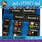 Editable Centers Board and Guided Reading