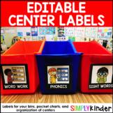 Editable Centers Cards