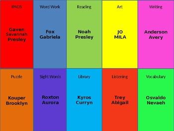 Editable Centers Chart