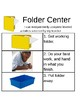 Editable Centers Visual Directions and Schedule Cards