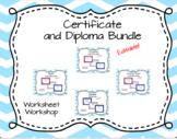 Editable Certificate and Diploma Bundle