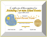 Editable Certificate of Participation for Parent Engagement