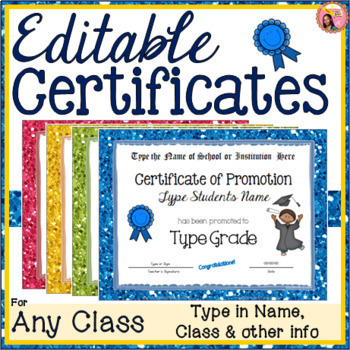Editable Certificates For any Class