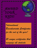 Editable Certificates IB Learner Profile
