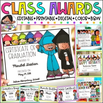 End of the Year Awards | Editable Certificates