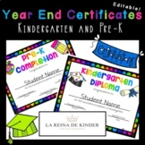 Editable Certificates and Invitation Letters - PreK and Ki