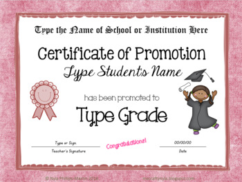 editable certificates of completion promotion or achievement