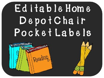 Editable Chair Pocket Labels
