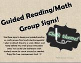 Editable Chalk Themed Group Signs **FREEBIE!!**