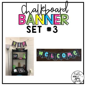 Editable Chalkboard Banner Set #3