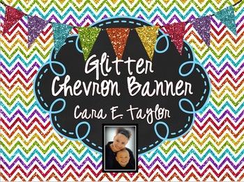 Editable Glitter Chalkboard Banners