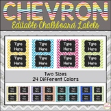 Teacher Toolbox Labels Editable -Chalkboard and Chevron Labels