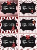 Editable Labels - Chalkboard Christmas Labels