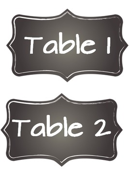 Editable Chalkboard Classroom Label