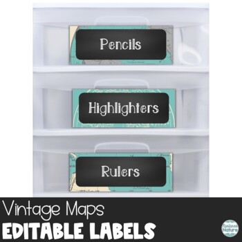 editable chalkboard classroom supply labels maps printable by