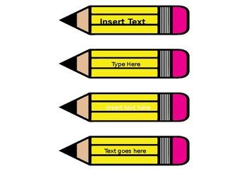 Editable Pencil Labels