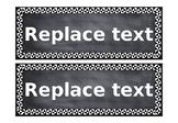Editable Chalkboard Labels
