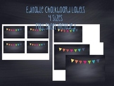 Editable Chalkboard Labels Polkadots
