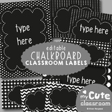 Editable Chalkboard Labels for the Classroom