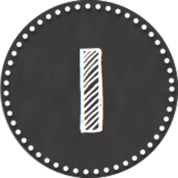 Editable Chalkboard Number Label PACK (Circular)