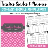 Chalkboard Teacher Binder
