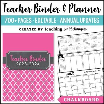 Chalkboard Teacher Binder