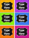 Editable Labels-Chalkboard and Stars Labels