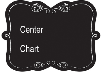 Editable Chalkboard Style Center Chart