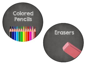 *Editable* Chalkboard Supply Labels