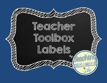 Editable Chalkboard Teacher Toolbox Labels