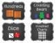 Editable Chalkboard Theme Math Manipulatives Labels