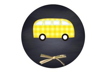 Editable Chalkboard Transportation Display
