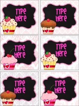 Editable Labels-Editable Valentine's Day Sweets