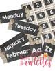 Editable - Chalkboard Wood Farmhouse Back to School wall decor - Calendar