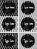 Editable Labels- Black and White Labels- Chalkboard and Fish Scale