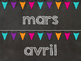 Editable Chalkboard and Brights Calendar Month Headings in French