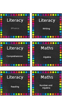 Editable Chalkboard and Brights Labels