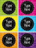 Editable Labels - Chalkboard and Curl