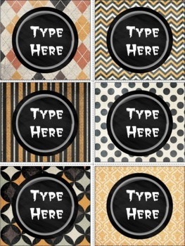 Editable Labels-Chalkboard and Halloween Labels