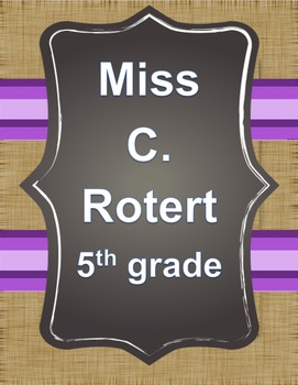 Editable Chalkboard and burlap class labels