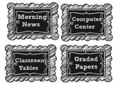 Editable Chalkboard labels and Clipchart Freebie