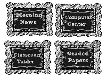 Editable Chalkboard labels and Clipchart Freebie