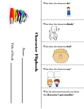 Editable Character Flipbook