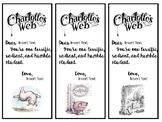 Editable Charlotte's Web Book Marks