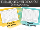 Editable Check-In Check-Out Behavior Chart