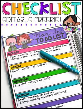 Editable Checklist Freebie